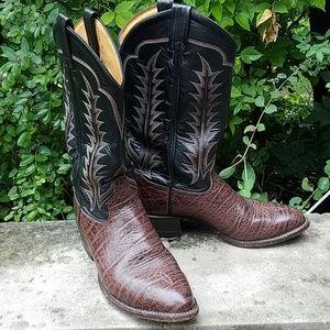Vintage leather Tony Lama cowboy boots size 9 men'